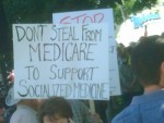 Medicare Sign at Tea Party Rally
