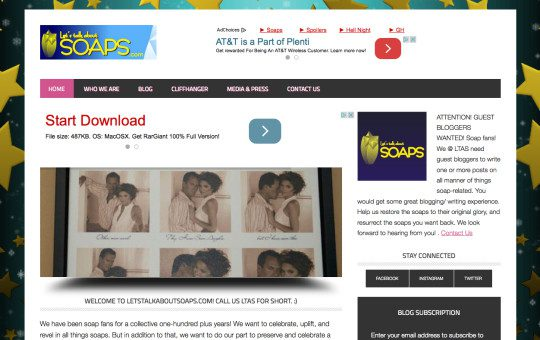 #WEBSITE: Let's Talk About Soaps Website Launched
