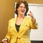 Debra Askanase hosting a workshop